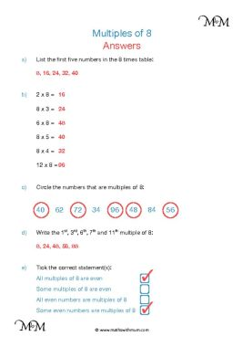 Multiples of 8 worksheet answers pdf