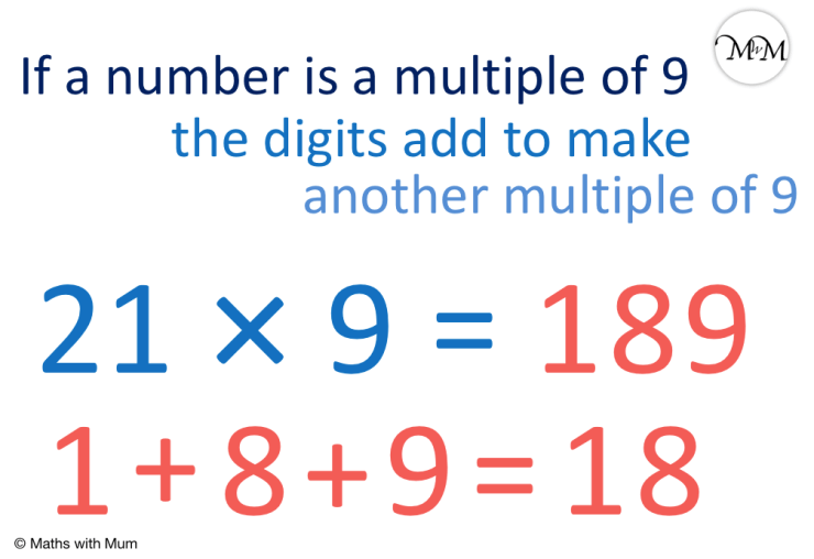 how to test if a number is a multiple of 9 example of 189