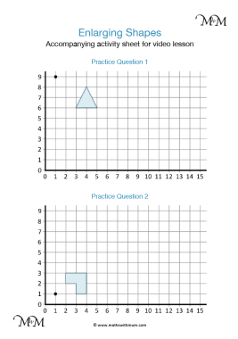 enlarging shapes about a given point activity
