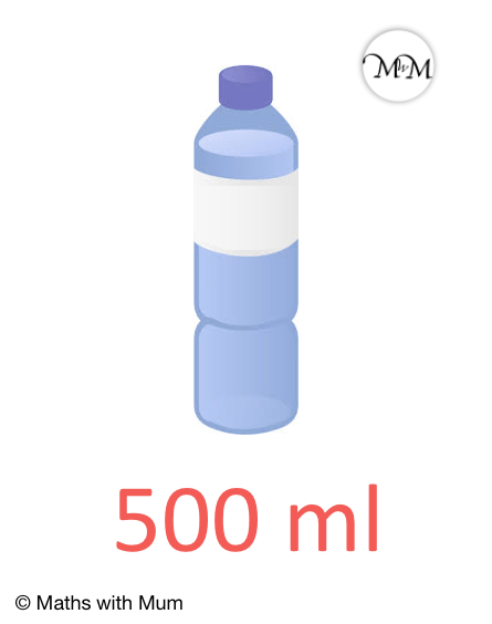 a bottle contains 500 mL