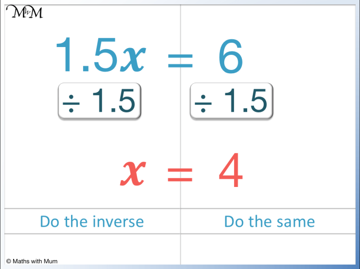 how to solve a one-step equation with a decimal coefficient
