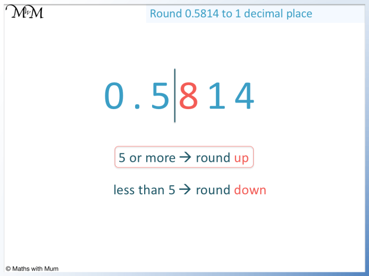 how to round a number to the nearest tenth