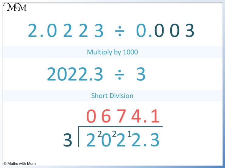 example of dividing decimals