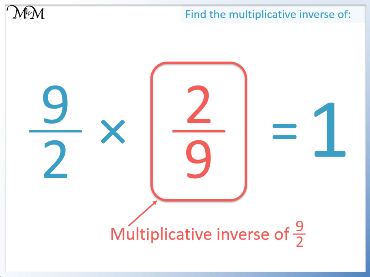 finding the multiplicative inverse of an improper fraction.