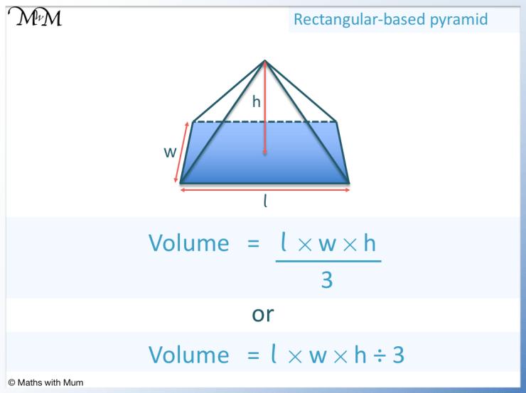 volume of a rectangular based pyramid