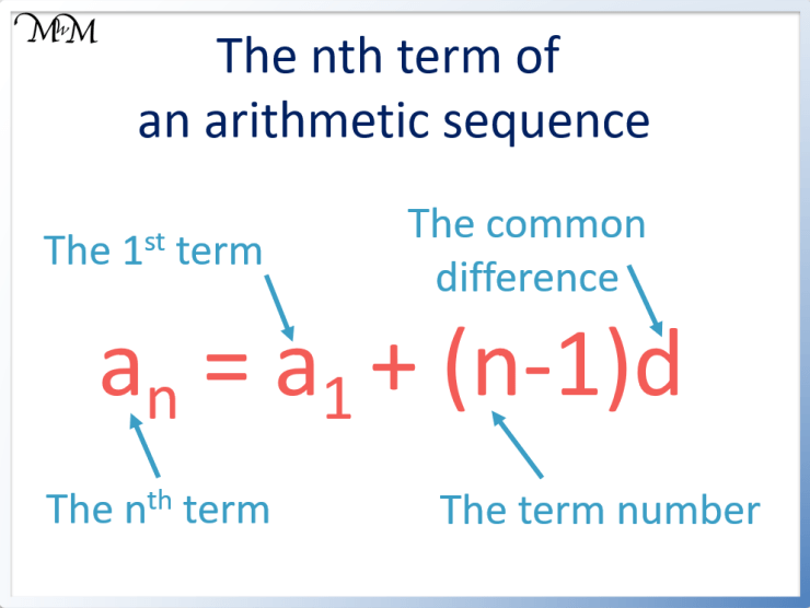 the arithmetic sequence formula