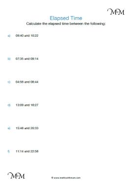 Elapsed Time worksheet pdf