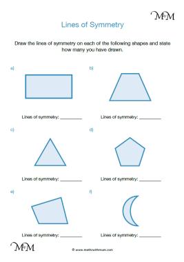 lines of symmetry worksheet pdf