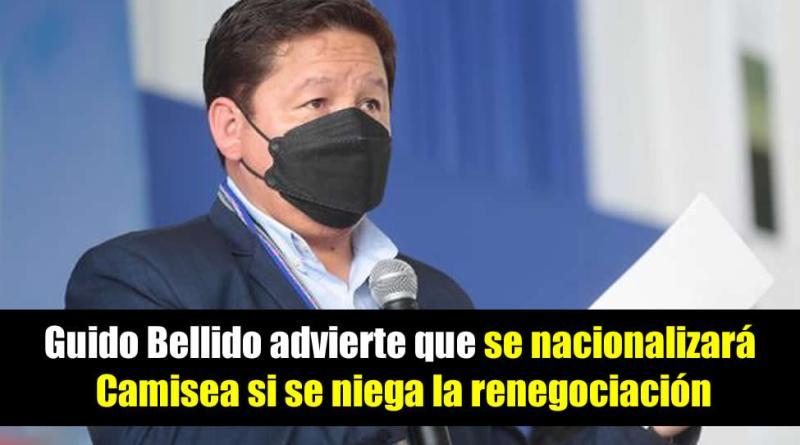 Guido Bellido advierte que se nacionalizará Camisea si se niega la renegociación.
