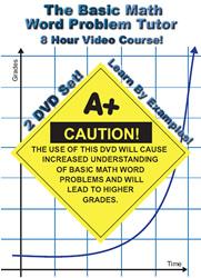 Math Help: The Basic Math Word Problem Tutor - 2 DVD Set - 8 Hour Course