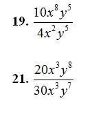 Multiplying And Dividing Monimials Worksheet And