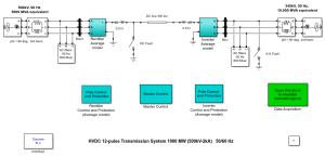 ThyristorBased HVDC Transmission System (Average Model)  MATLAB & Simulink