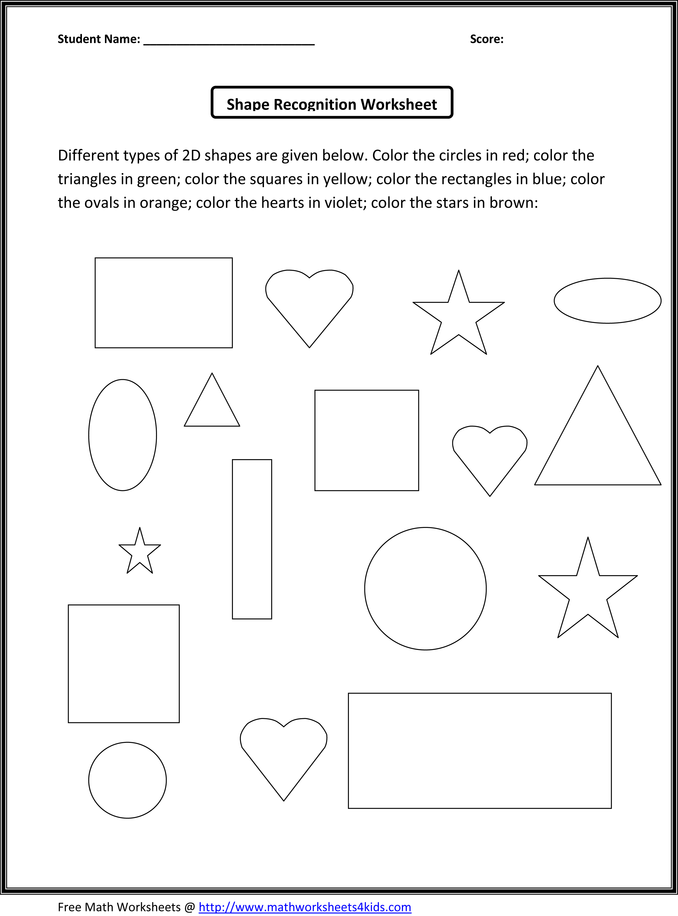 2d Shapes Lessons