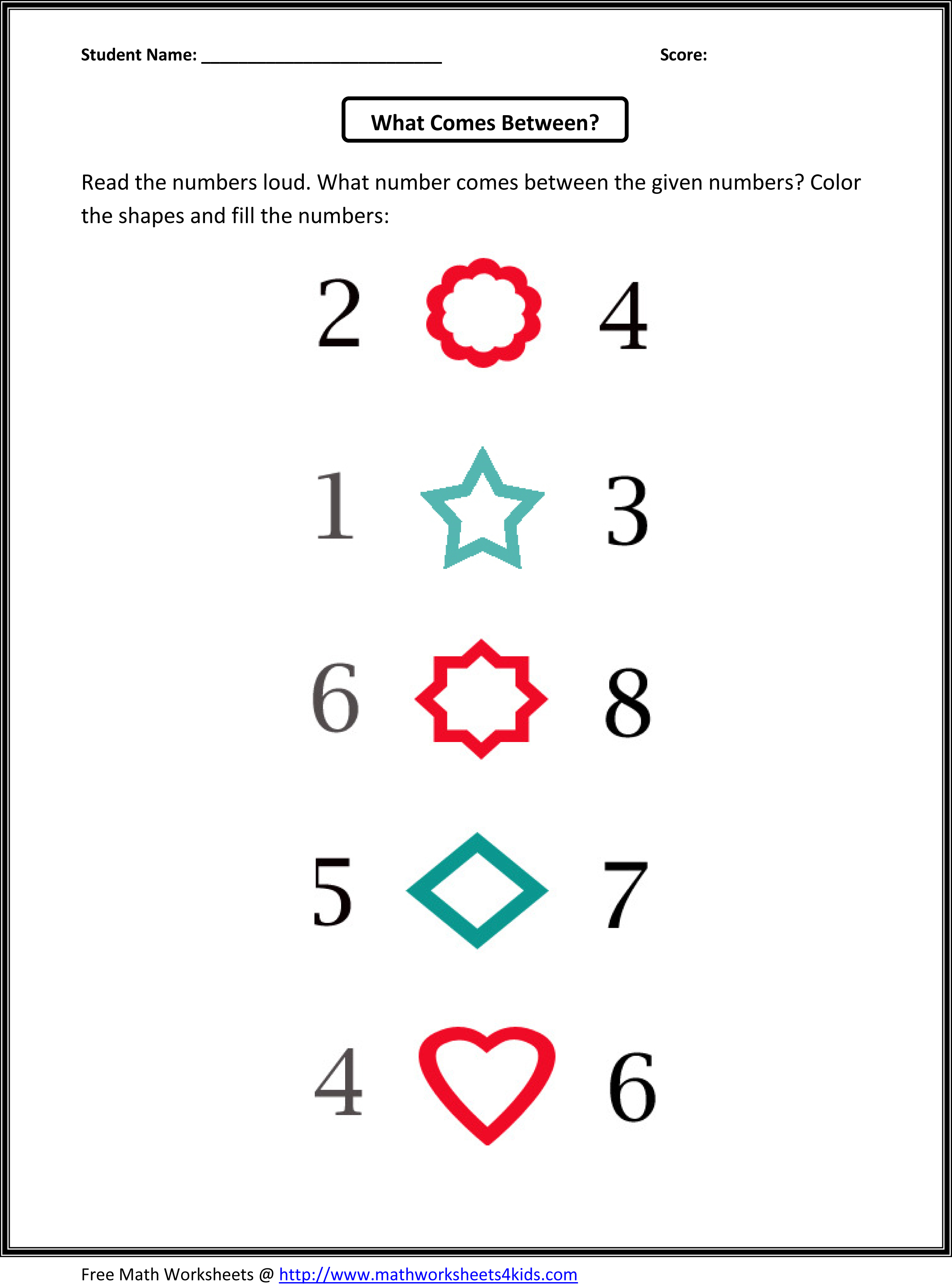 Kindergarten Math Patterns Free Patterns