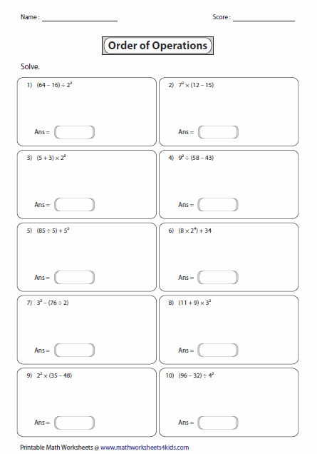 New 103 Fraction Bedmas Worksheets