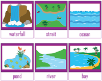 Landforms And Bo S Of Water Worksheets