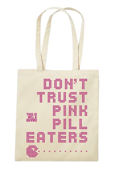 Bolso Tote Pink Pill Eaters