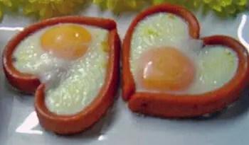 αυγά καρδιές