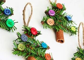 Χριστουγεννιάτικα ελατάκια με κουμπάκια