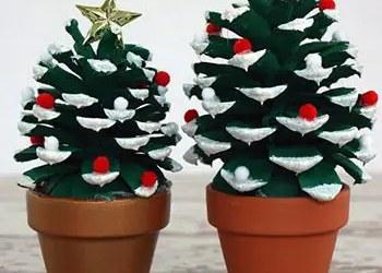 Χριστουγεννιάτικα δεντράκια μια σταλιά