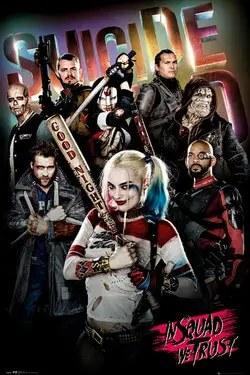 suicide squad 2016 poster in squad we trust