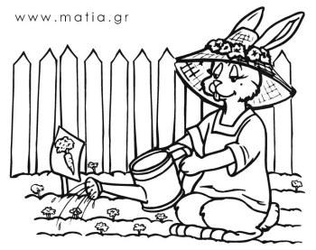 Πασχαλινή Λαγουδίνα Κηπουρός