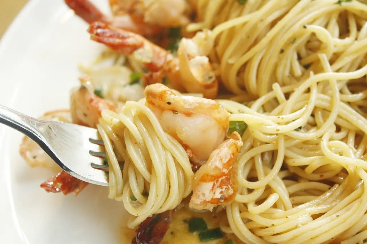 Σπαγγέτι με σάλτσα γαρίδες με βότκα, της Βιβής