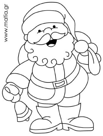 Άγιος Βασίλης με κουδούνι