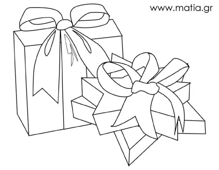 Δύο κουτιά με δώρα