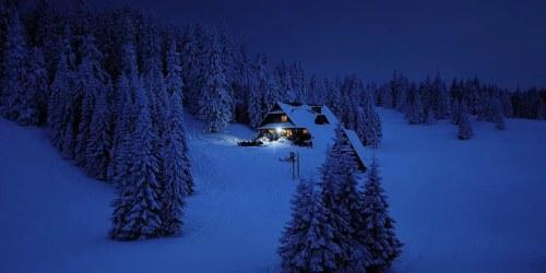 Night, Snow
