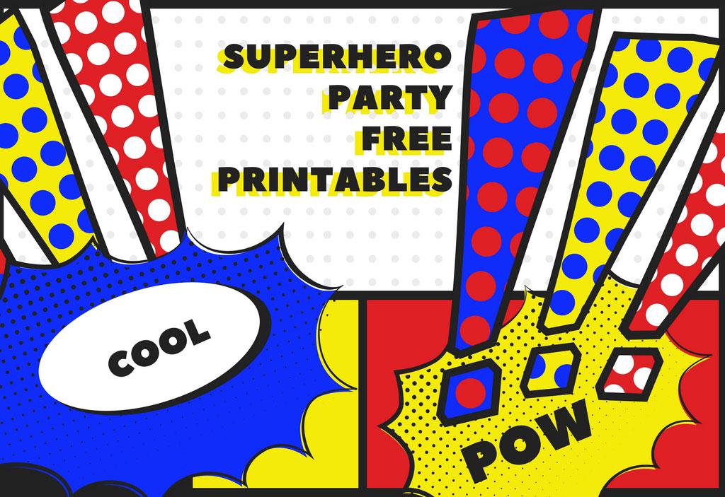 graphic regarding Free Superhero Party Printable known as Superhero Absolutely free Social gathering Printables Matilda Me Site