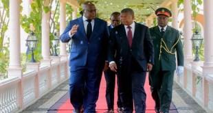 Le chef de l'État Félix Tshisekedi s'est envolé pour Benguela, en Angola