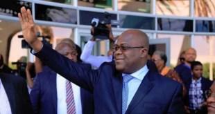 Félix Tshisekedi, à son arrivée à Windhoek, en Namibie, le 26 février 2019