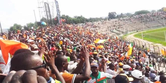 Les supporters de FC Renaissance du Congo
