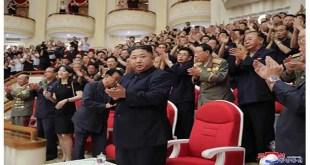 KIM JONG UN à un spectacle donné par l'Orchestre Symphonique National -