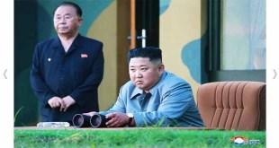 KIM JONG UN dirige le tir de démonstration d'une nouvelle arme téléguidée tactique