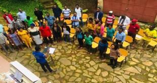 Choeur Internationale de Bukavu, photo prise lors des répétitions préparatoires