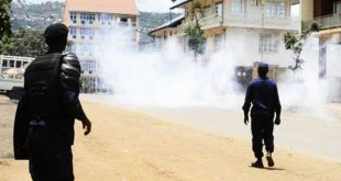 Kananga : les militants de lamuka dispersés à coup de gaz lacrymogènes