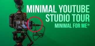 Minimal youtube studio tour