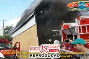 VÍDEO | Incêndio de grandes proporções destruiu depósito de alimentos do Del Moro em Sorriso 68