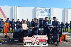 9º Comando da PM de Alta Floresta entrega viaturas, equipamentos de segurança e fardamentos a três municípios 75