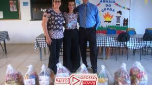 CDL de Alta Floresta faz doação de cestas de alimentos a entidades assistências da APAE e o CEEDA 105