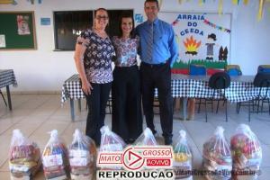 CDL de Alta Floresta faz doação de cestas de alimentos a entidades assistências da APAE e o CEEDA 69