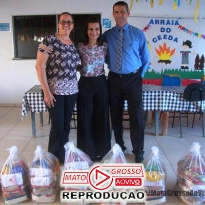 CDL de Alta Floresta faz doação de cestas de alimentos a entidades assistências da APAE e o CEEDA 101