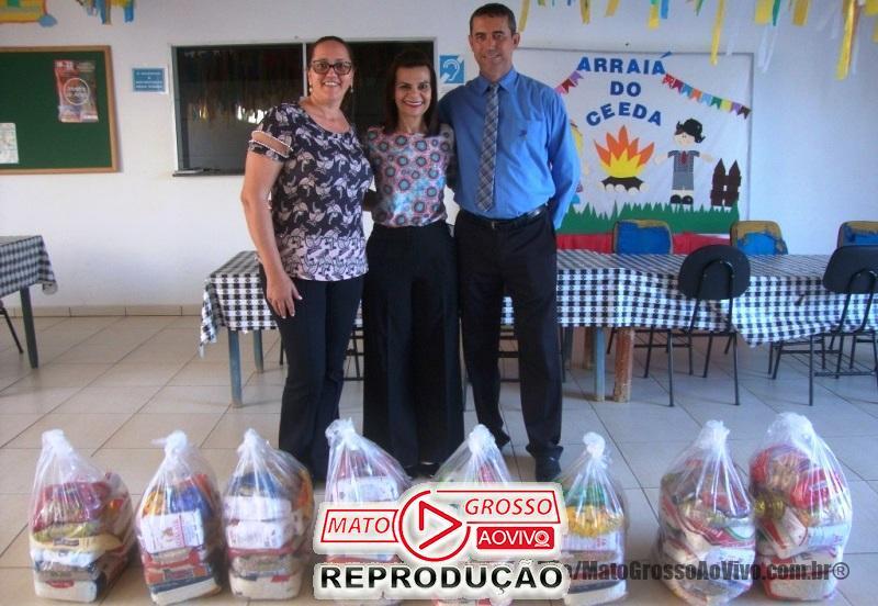 CDL de Alta Floresta faz doação de cestas de alimentos a entidades assistências da APAE e o CEEDA 65