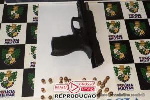 Após ameaças, suspeito é preso em Alta Floresta com uma pistola em veículo enquanto tentava fugir 79