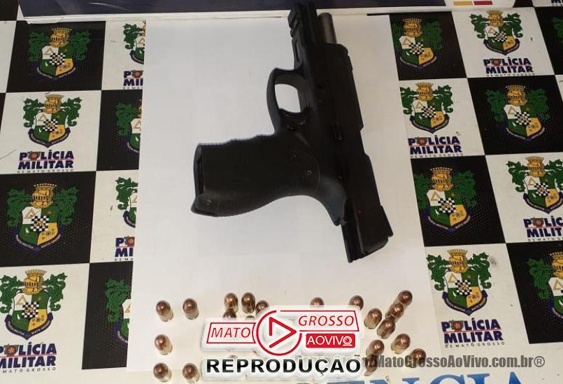 Após ameaças, suspeito é preso em Alta Floresta com uma pistola em veículo enquanto tentava fugir 65