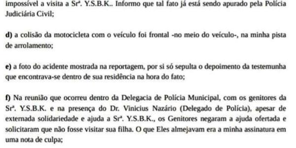 Empresária Abgail Carlini envia Nota de Esclarecimento sobre acidente do dia 08/02 23