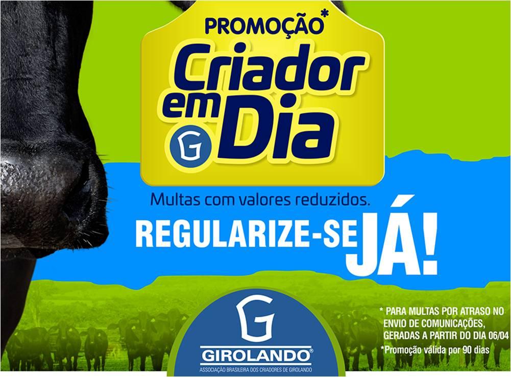 Girolando reduz valor de multa a 1 centavo para ajudar produtores em período de coronavírus