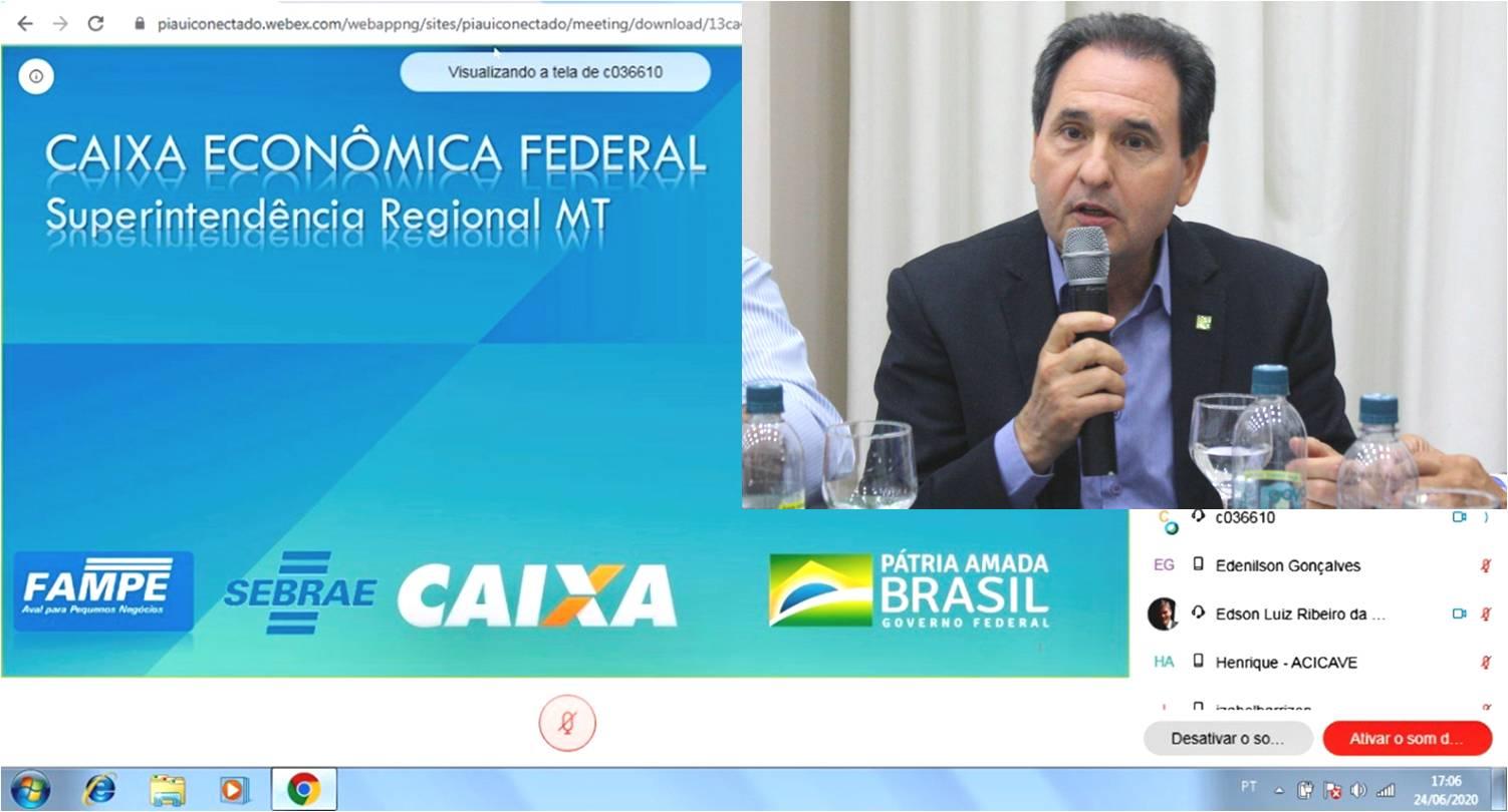 Parceria entre Facmat e CEF assegura acesso de empresários a linhas de crédito durante a pandemia